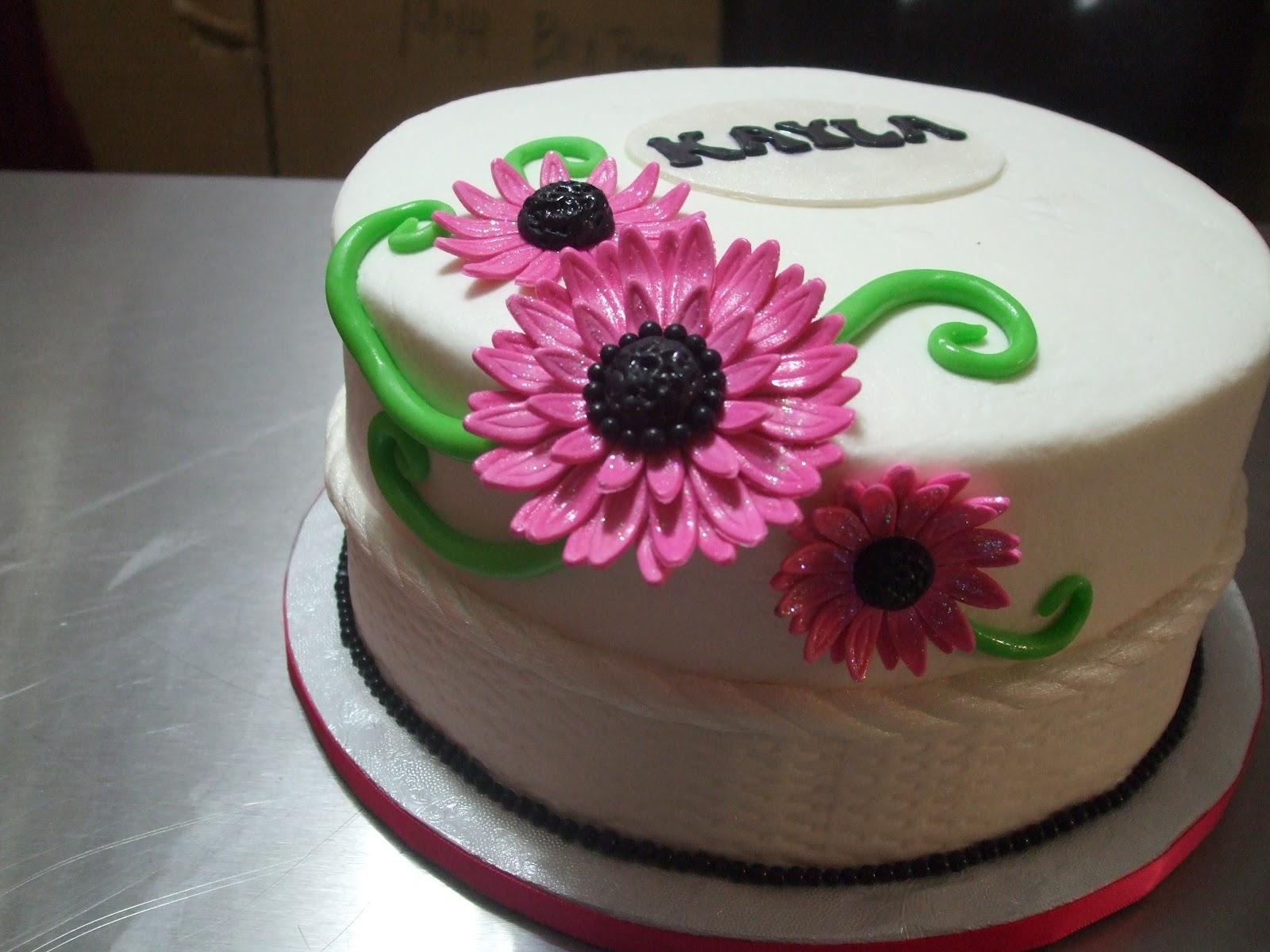Cakes By Paula Gerbera Daisy Birthday Cake