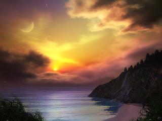 Dreamy Beach Mountains