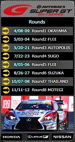 Super GT500 Schedule