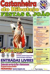 Castanheira do Ribatejo- Festas São João 2016- 24 a 26 Junho