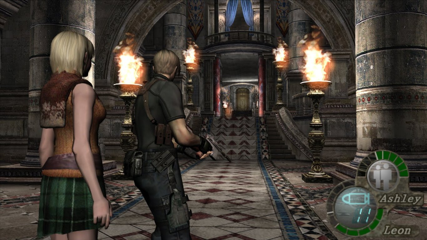Resident Evil 4 PC Leond and Ashley