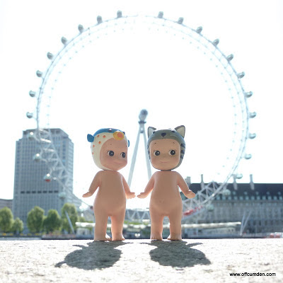 Sonny angel cat and blowfish see the London Eye