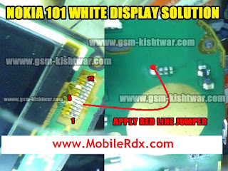Free SOlution Here: Nokia 101 White Display 100% Tested Solution
