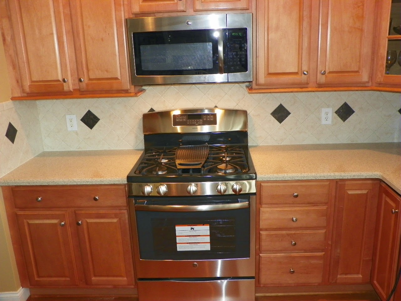 Stove Countertop Replacement : ... stove is installed the homeowner was quite happy to get her new stove