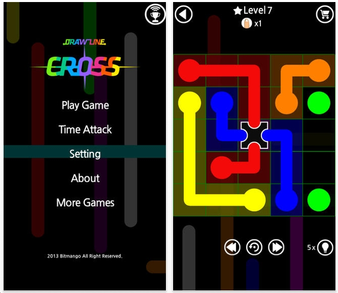 Drawing Lines Game : The best iphone ipad puzzle apps and mechanical puzzles