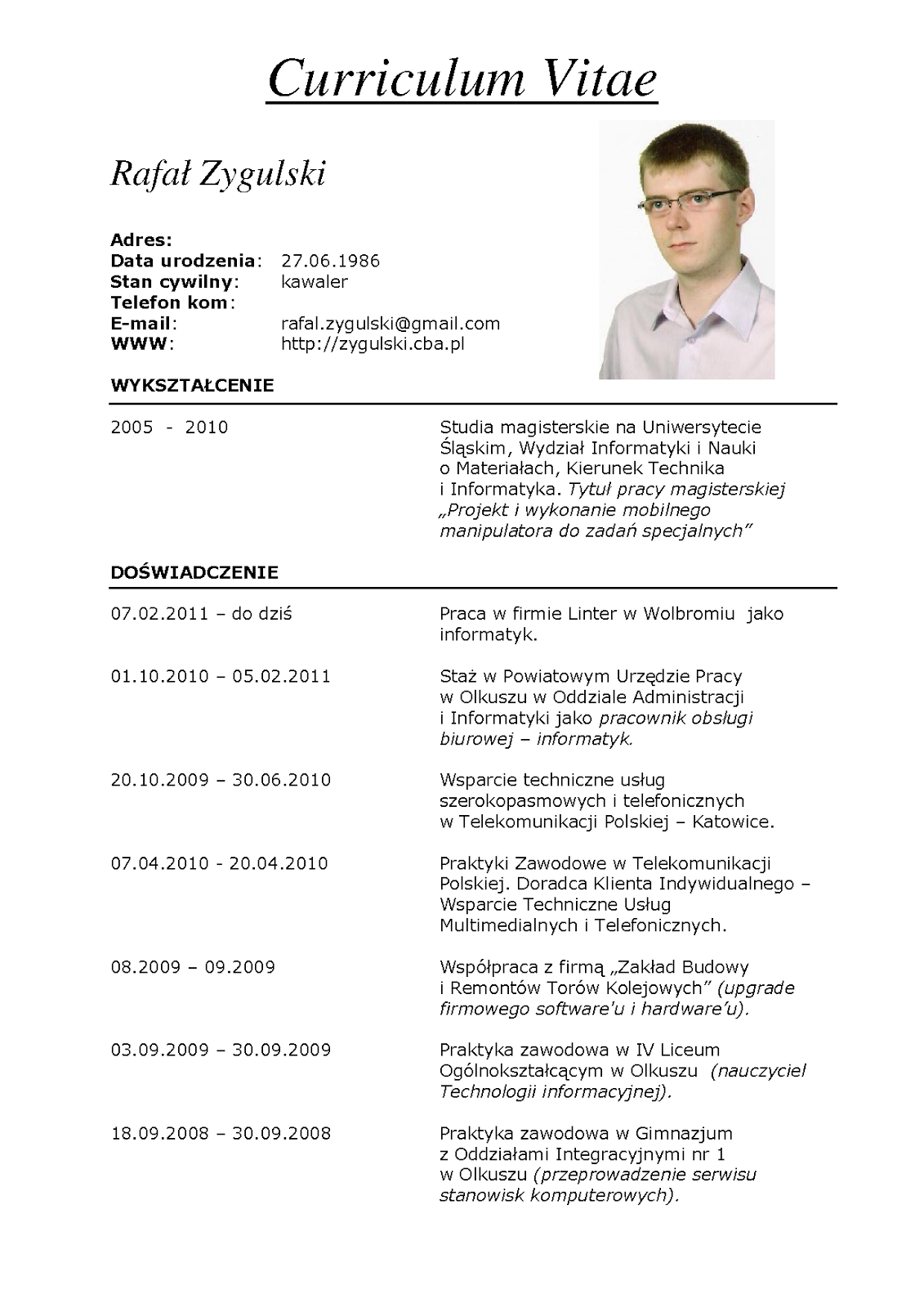 contoh resume cv bahasa indonesia collegeconsultants x