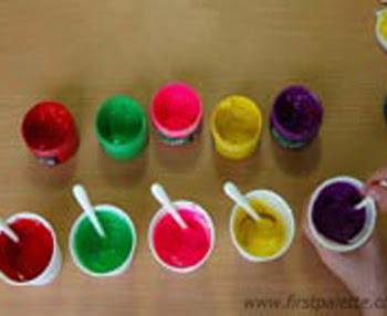 Colored Flour Paste