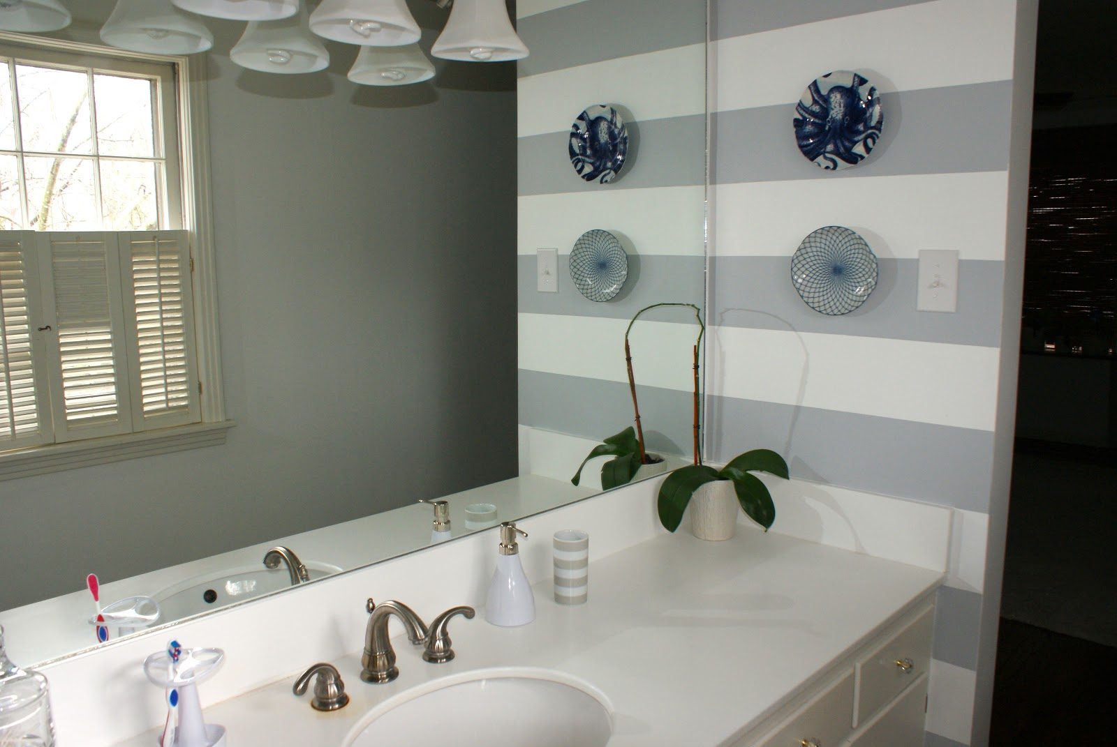 Lovely A Striped Bathroom
