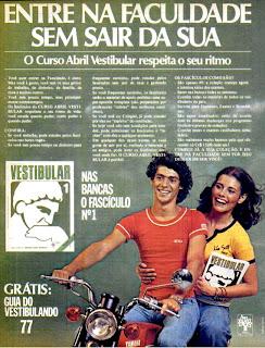 propaganda curso vestibular Abril - 1977
