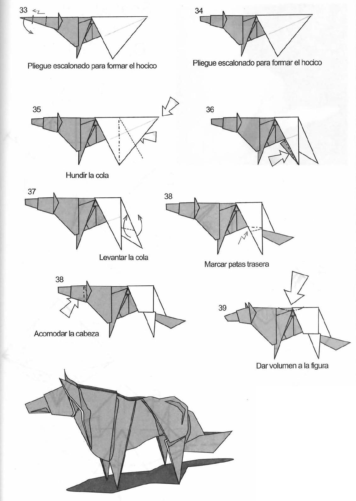 Origami Dog Body Instructions Diagram