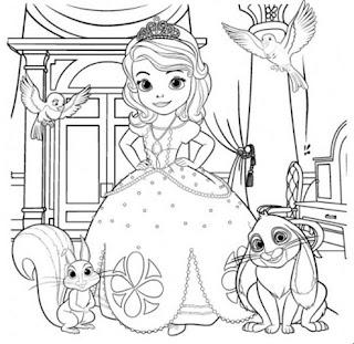 Belajar Mewarnai Putri Sofia