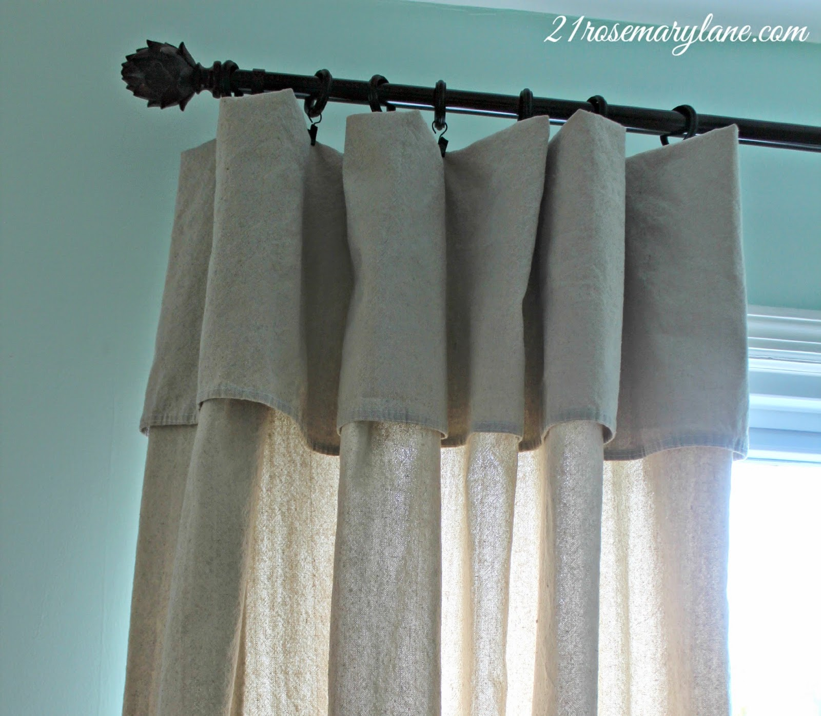 21 rosemary lane no sew drop cloth drapes they really do work