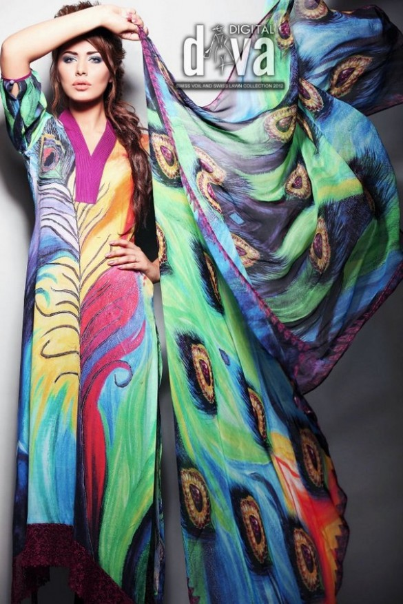 Digital Diva Swiss Voile and Swiss fashion Collection 2012