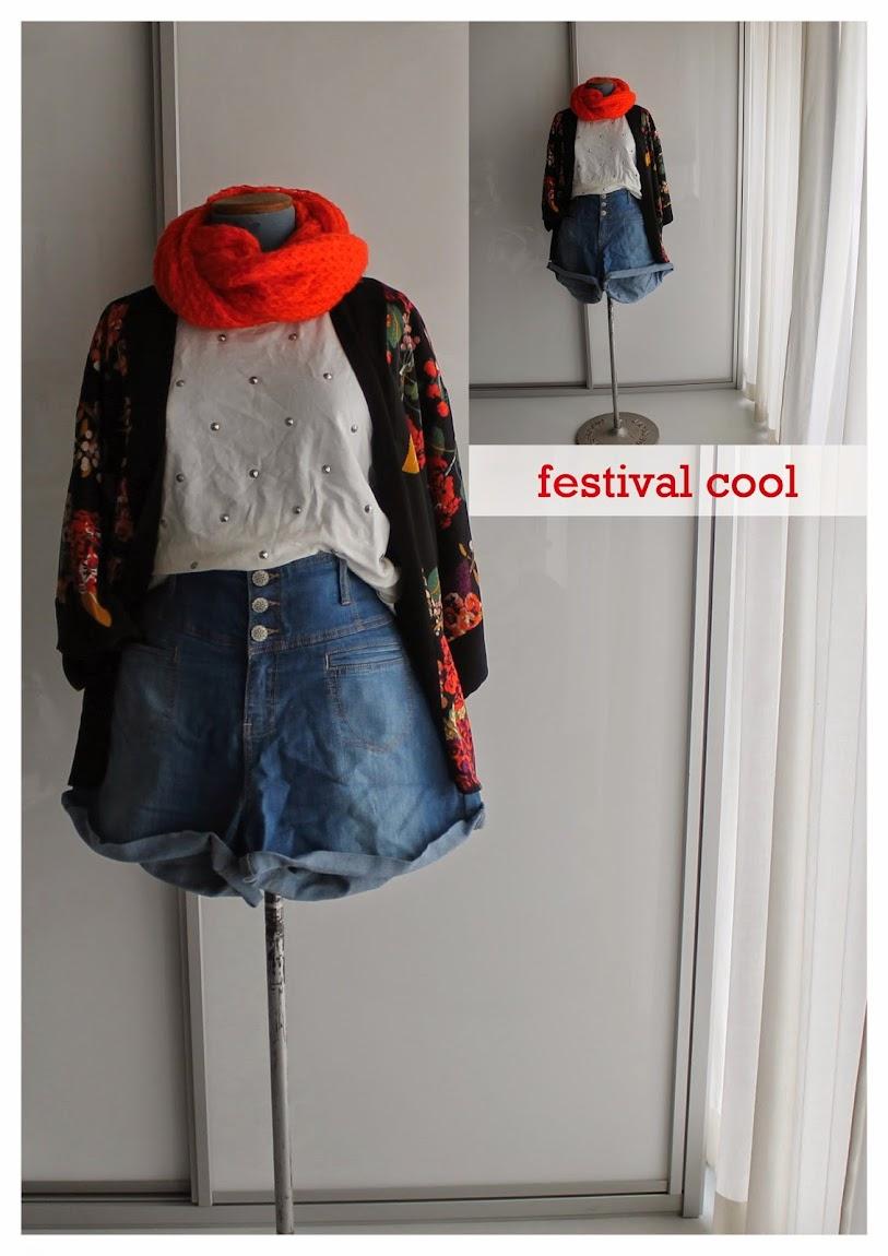 Kimono Denim Shorts