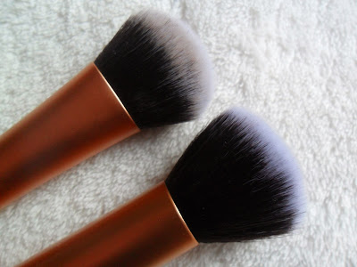 Close up of Real Techniques face brushes