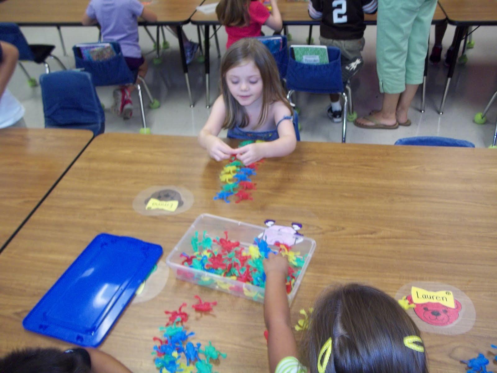 Math Tubs in Kindergarten