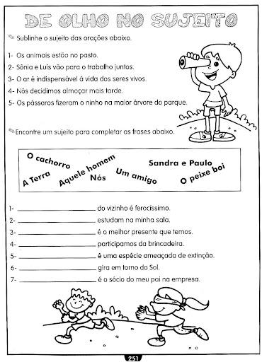 Portalescolar   2012 06 Sujeito E Predicado Atividades Para Html