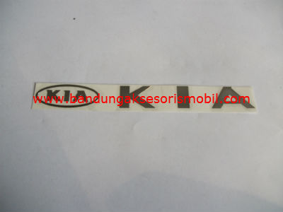 Emblem Alumunium 3M Besar Chrome KIA