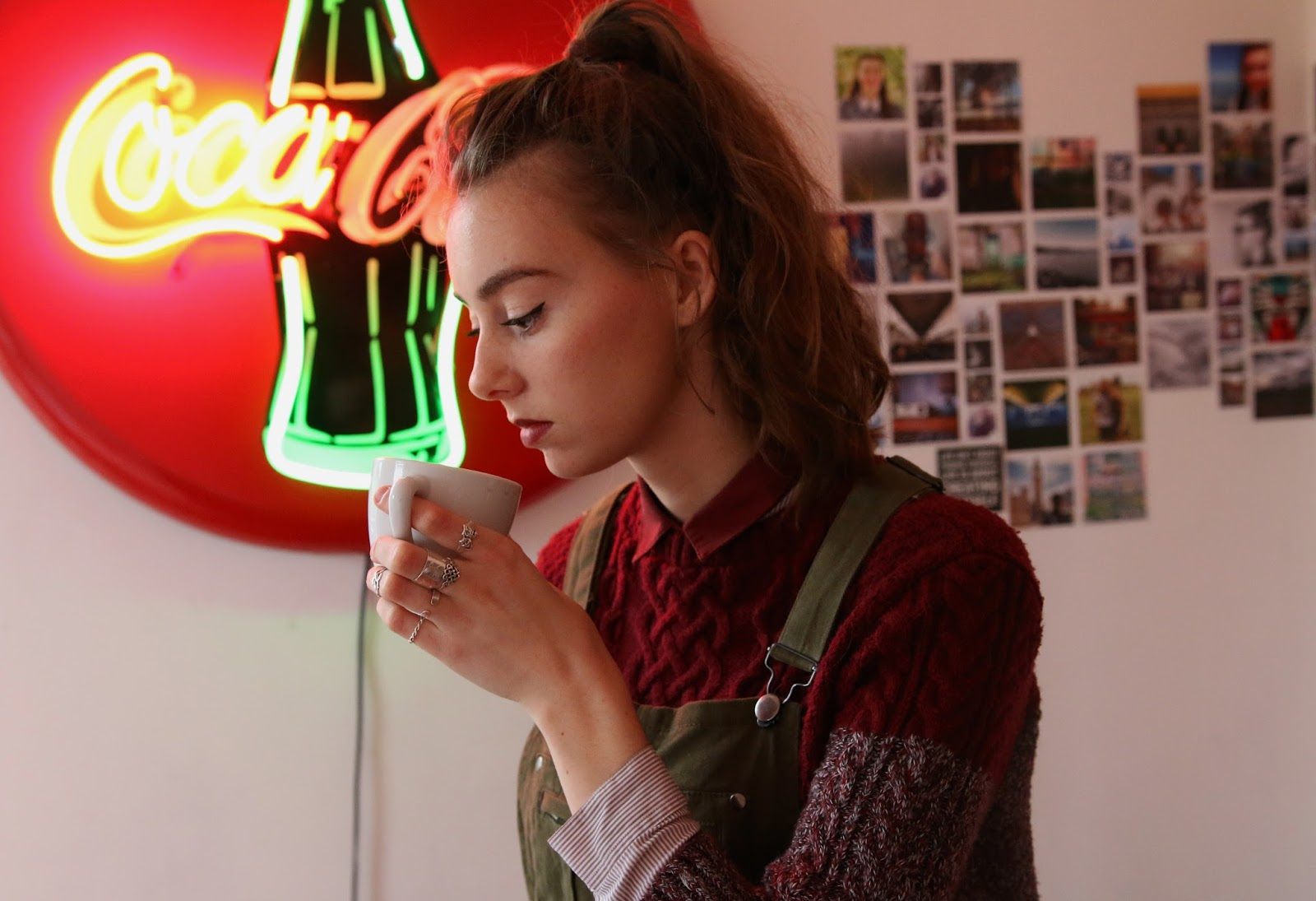 dungarees, overalls, green, ootd, blogger, mandeville sisters, sisters, fashion, british, grace mandeville, mandeville sisters, green overalls, green dungarees, asos, kooples shirt, winter jumper, shirt,