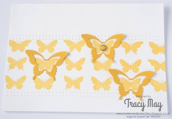 Stampin Up butterfly collection elegant bitty butterfly punch Tracy May card making