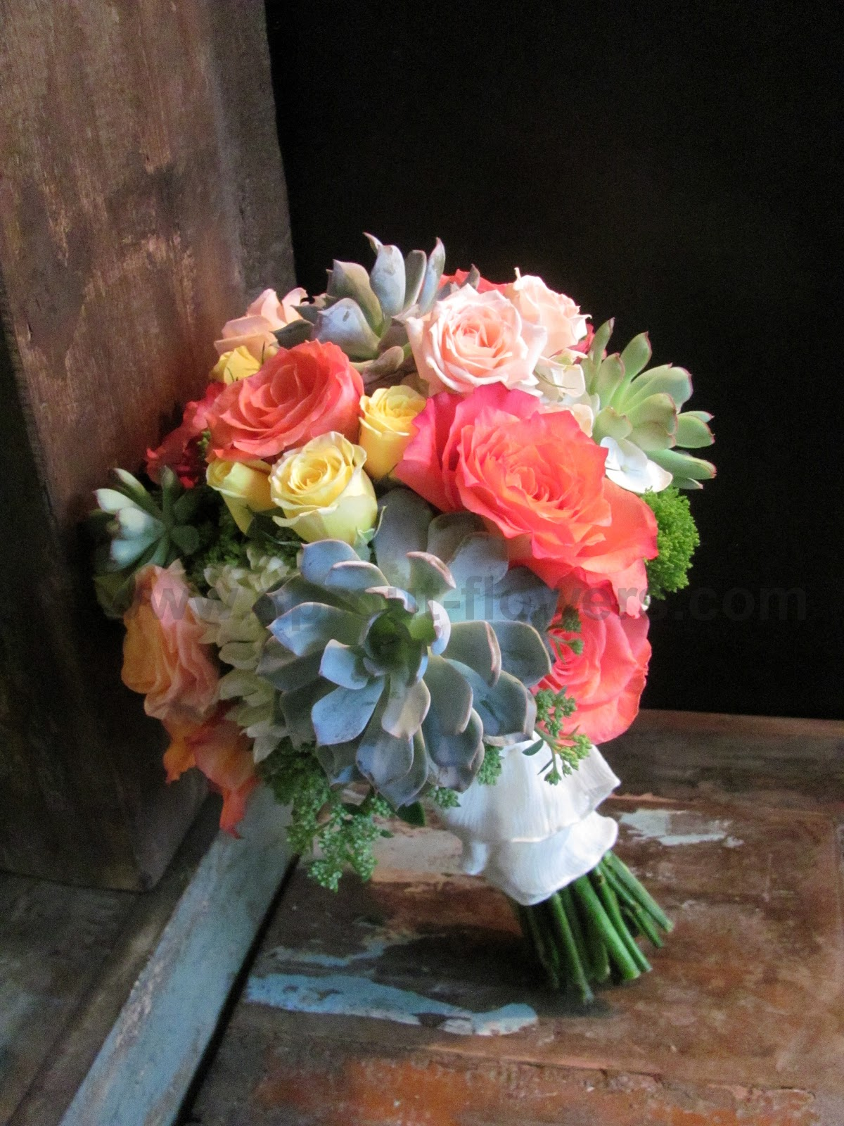 Wedding Flowers In Worcester : Worcester florists sprout wedding succulents and burlap