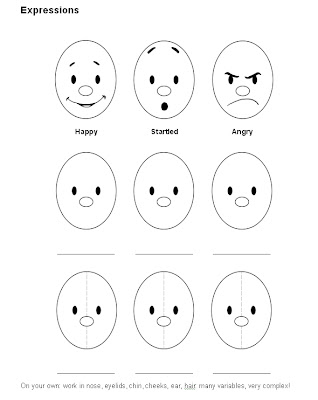 printable cartoon facial expressions