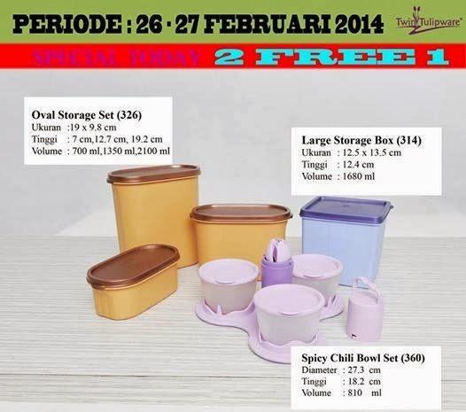 Promo Tulipware 26 dan 27 Feb 2014