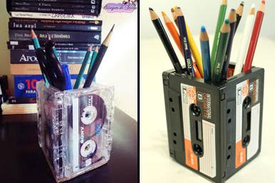 Porta lápis com ftta k7