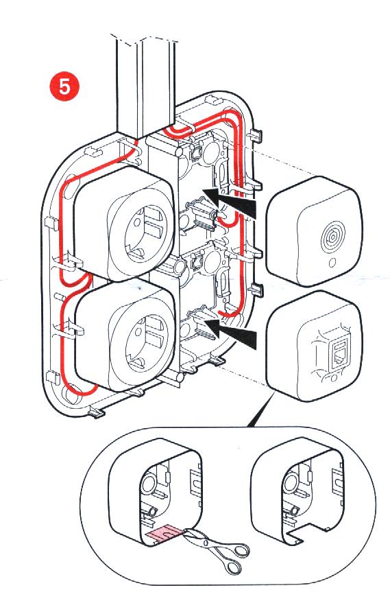 Как закрепить кабель в розетке