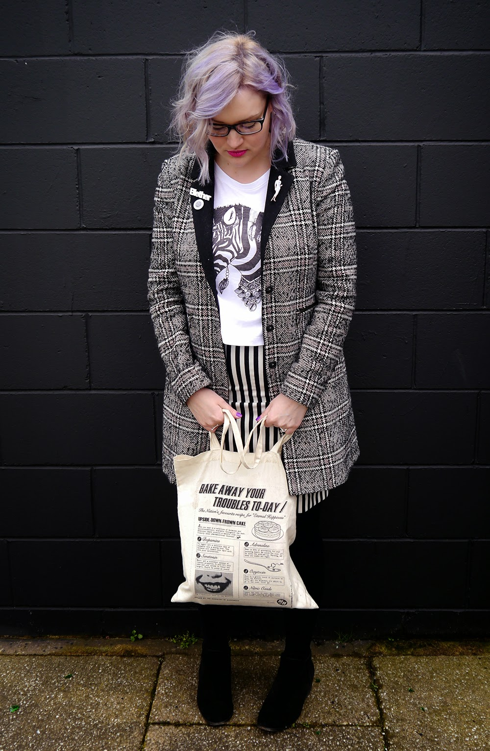Glasgow, merchant city, the Clyde, plaid, Scottish blogger, style blog, blether, violet hair, purple hair, how to,zebra, outfit, OOTD, scotstreetstyle