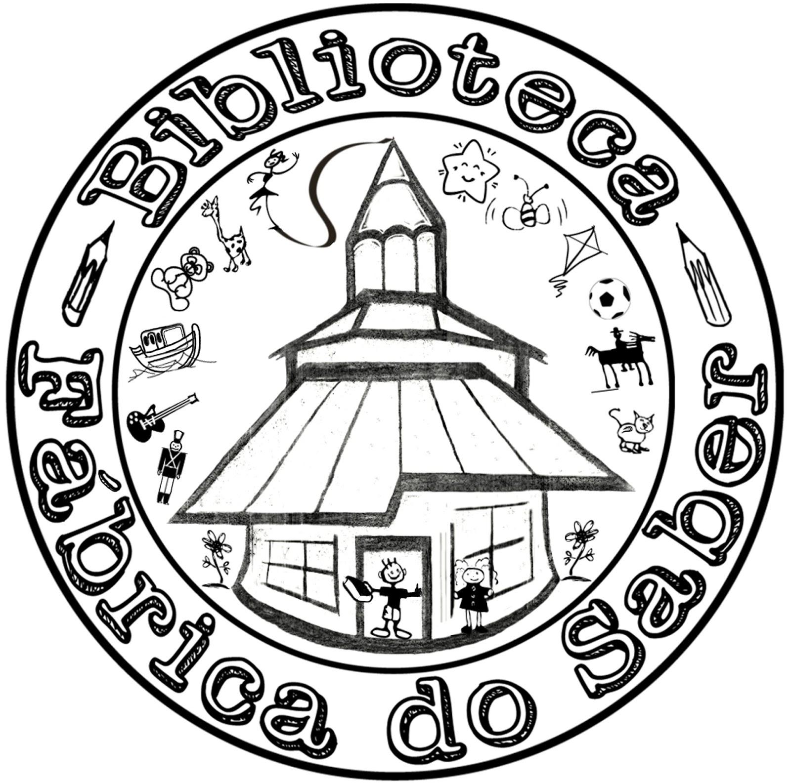 Biblioteca f brica do saber nh logotipo da biblioteca for Logotipos de bibliotecas