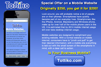 mobile websites special offer