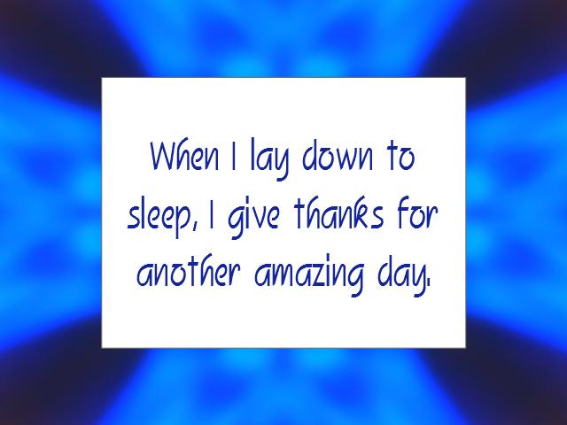 SLEEP affirmation