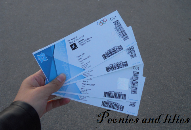 London 2012, Olympics London 2012, London 2012 olympic hockey match tickets, Peonies and lilies