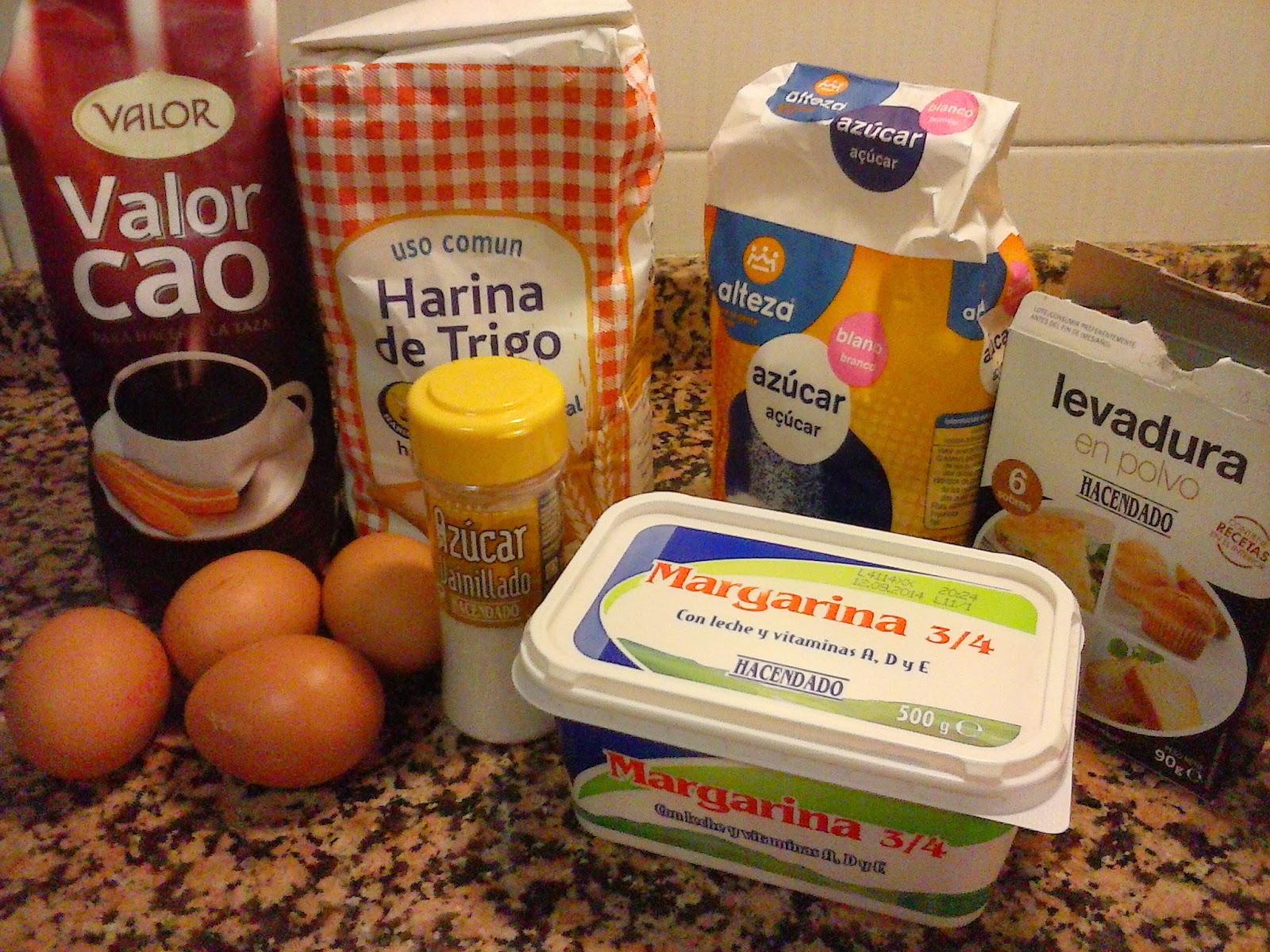 ingredientes bizcocho marmolado