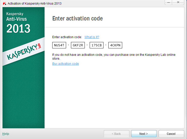 kaspersky antivirus 2017 activation code