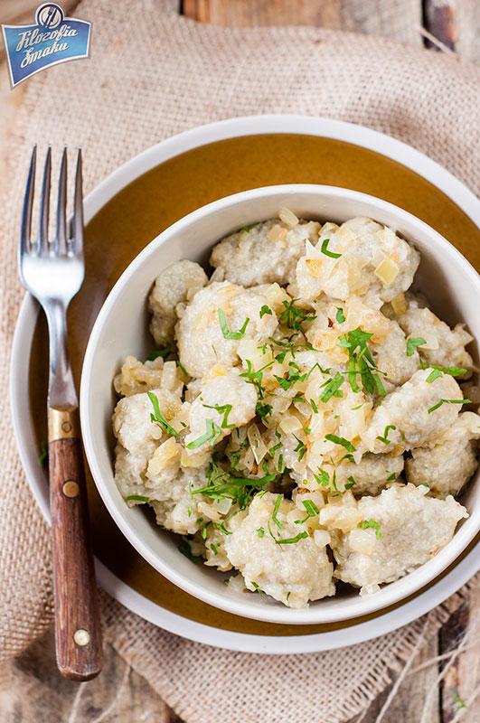 Szare kluski z ziemniaków