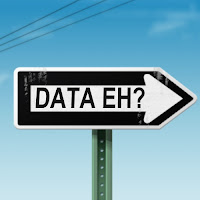 one way sign saying DATA eh?