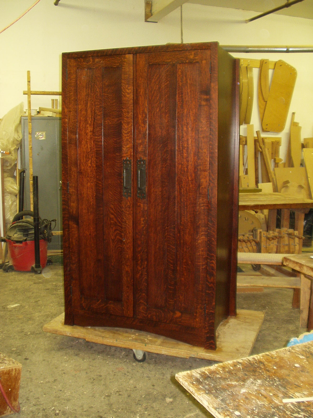Jas Becker Cabinetmaker Mission Wardrobe In Dyed Quarter