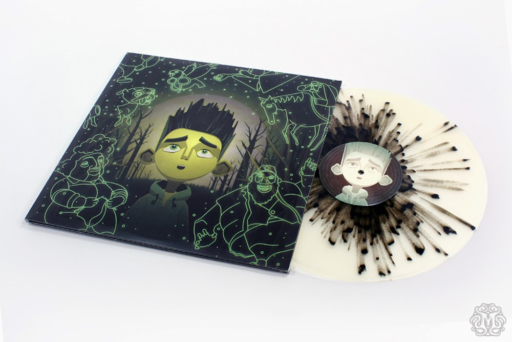 "Record Store Day 2014 Exclusive Mondo x LAIKA ParaNorman Soundtrack Glow in the Dark 2LP 12"" Vinyl Record by Jon Brion Featuring Cover Artwork by DKNG"