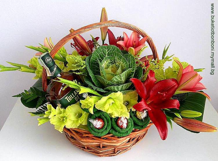 БУКЕТИ ОТ БОНБОНИ * S Line - chocolate bouquets and flowers decoration