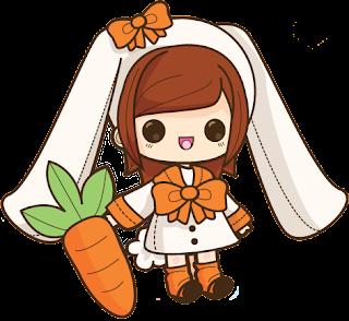 doodle cute, doodle comel, doodle rabbit, doodle kelinci