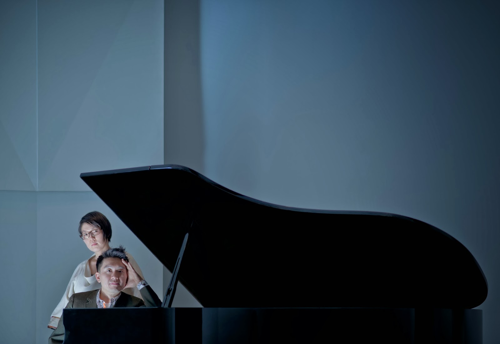 Susie J Lee and Byron Au Yong at the piano