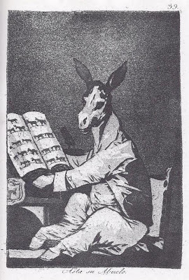 'Asta su abuelo' - Grabado nº 39 de 'Los Caprichos' de Francisco de Goya