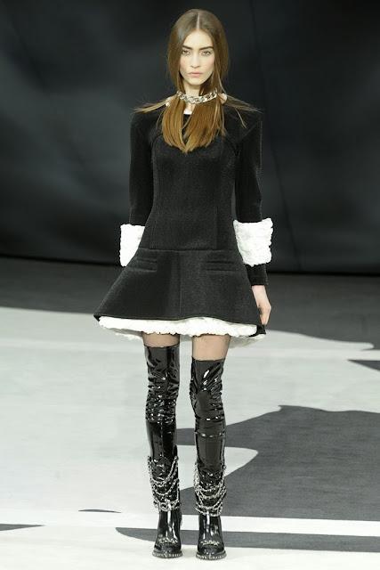 Fetish Fashion : Chanel Vinyl Boots Fall 2013