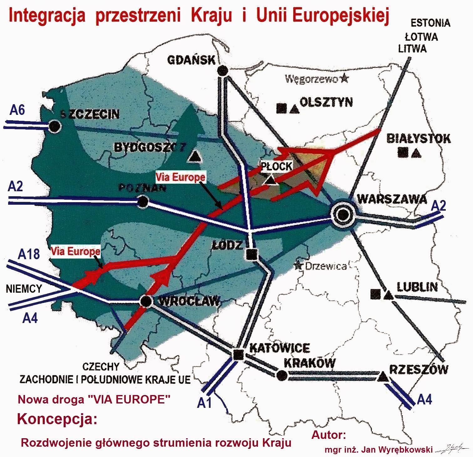 Koncepcja rozdwojenia głównego strumienia rozwoju Kraju i integracja Unii Europejskiej