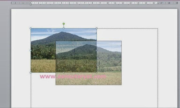 Trik Mudah Untuk Memindahkan Atau Menggeser Gambar Pada Menu Insert