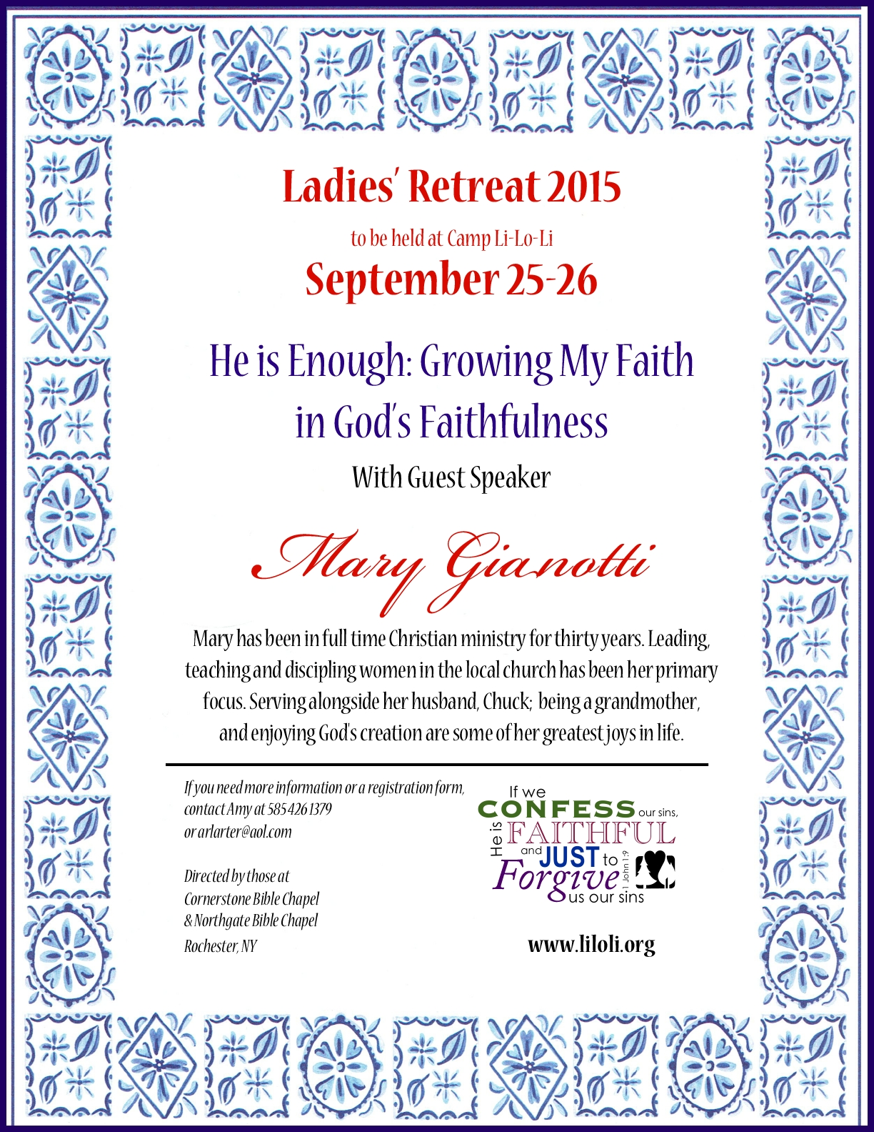Registration is now open for the Ladies Fall Retreat at Camp LiLoLi