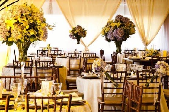 SIM Blog de Casamento Decoração para casamento Marron e amarelo