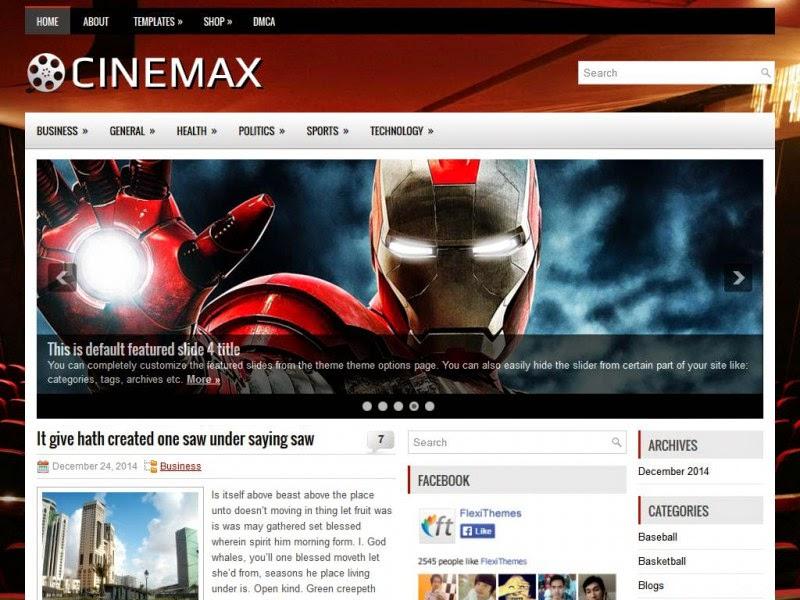 Cinemax - Free Wordpress Theme